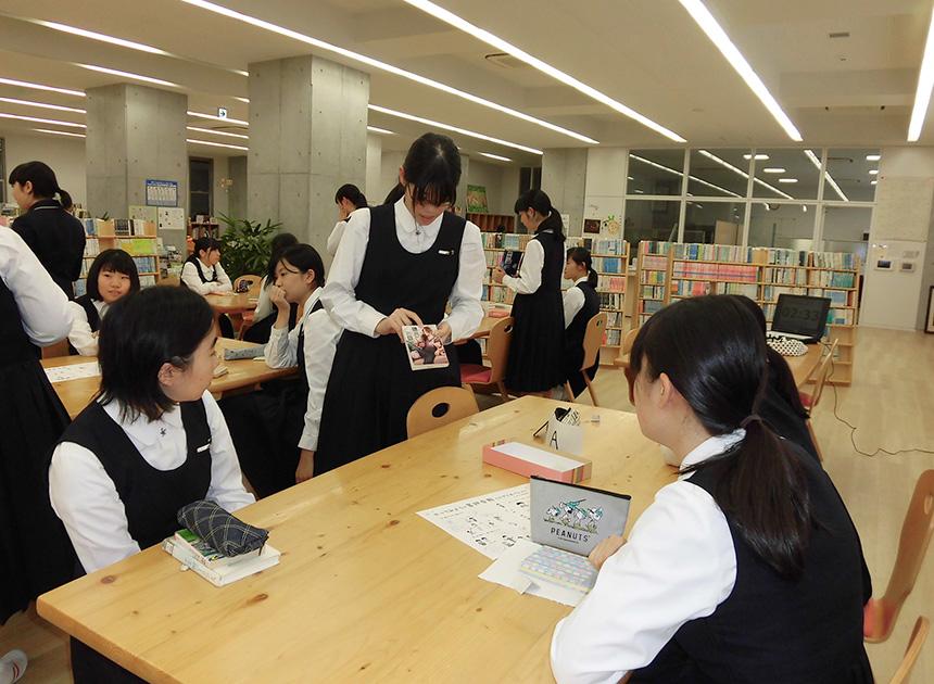 中学図書委員会の様子(ビブリオバトル)