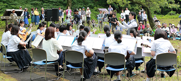 南阿蘇野の花コンサート